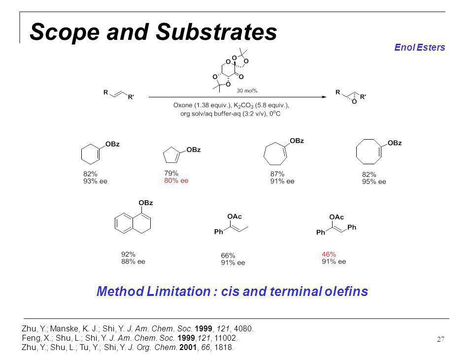 Scope and Substrates Method Limitation : cis and terminal olefins