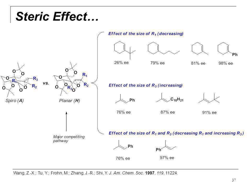 Steric Effect… Wang, Z.-X.; Tu, Y.; Frohn, M.; Zhang, J.-R.; Shi, Y.