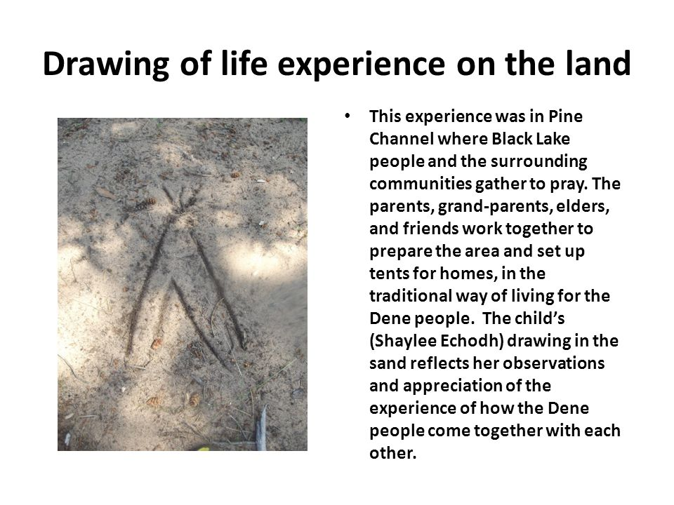 Drawing of life experience on the land