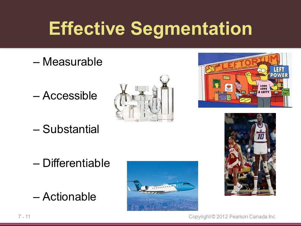 Effective Segmentation