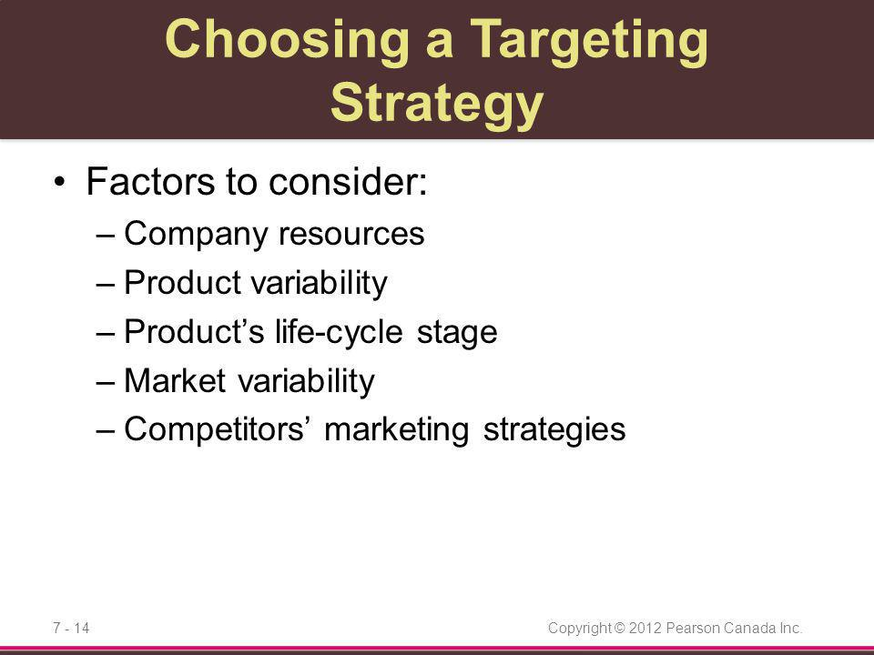 Choosing a Targeting Strategy