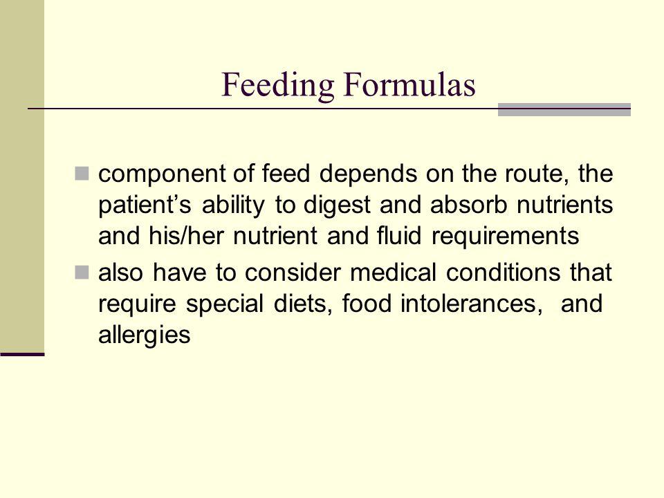 Feeding Formulas