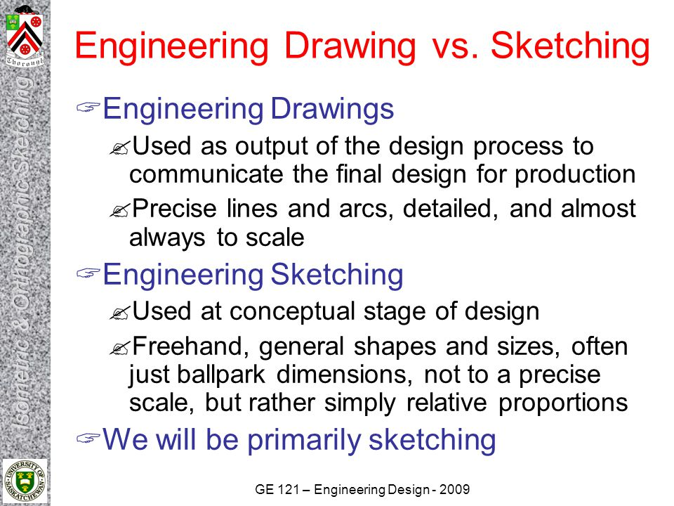 Engineering Drawing vs. Sketching