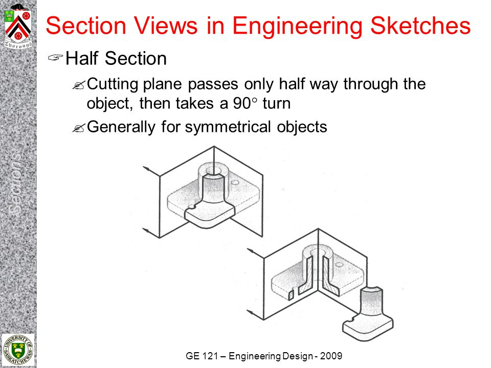 Section Views in Engineering Sketches