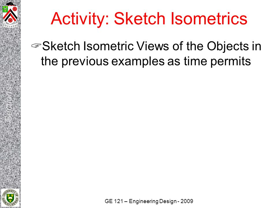 Activity: Sketch Isometrics