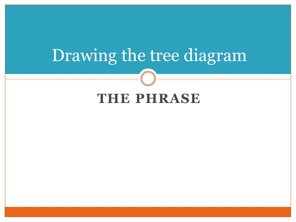 Drawing the tree diagram