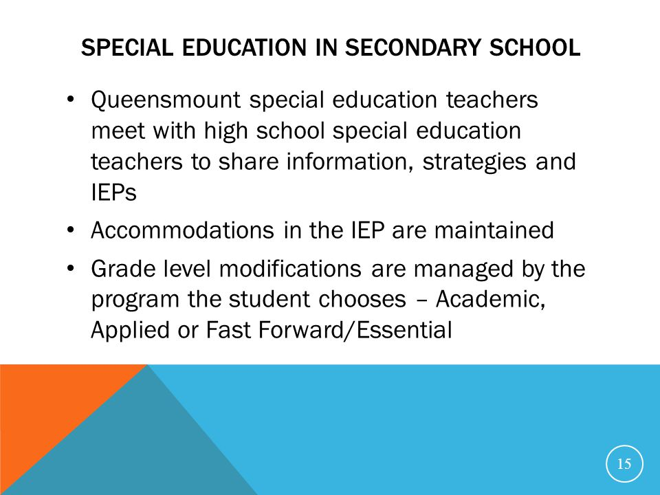Special education in secondary school