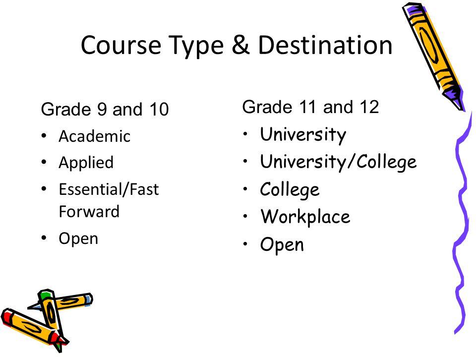 Course Type & Destination