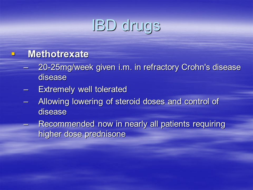 IBD drugs Methotrexate