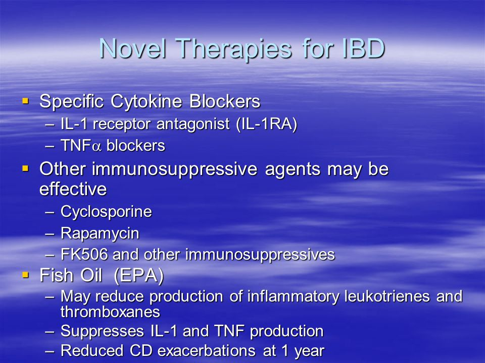 Novel Therapies for IBD
