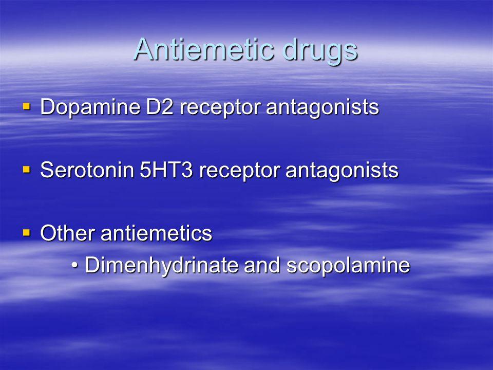 Antiemetic drugs Dopamine D2 receptor antagonists