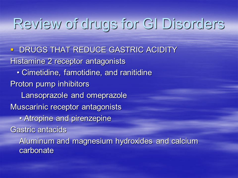 Review of drugs for GI Disorders