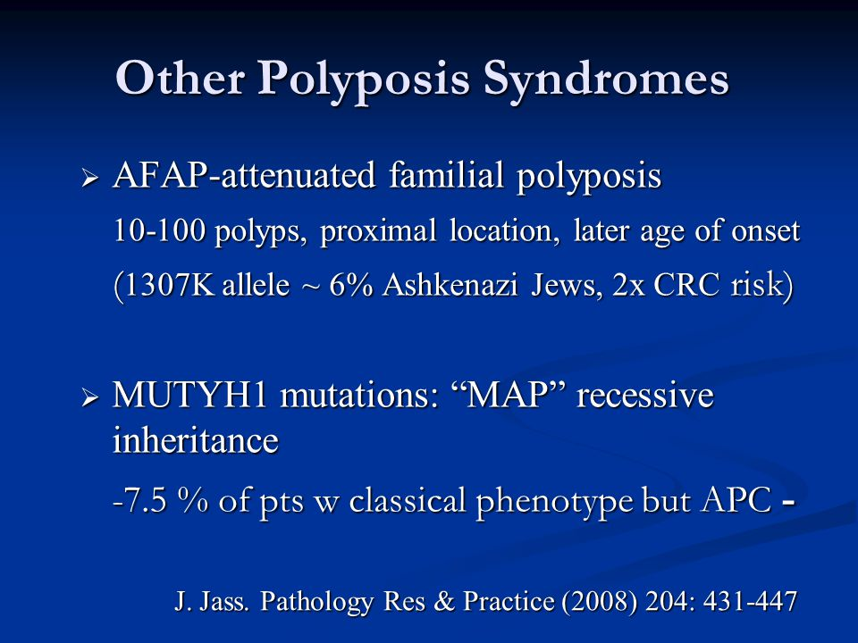 Other Polyposis Syndromes