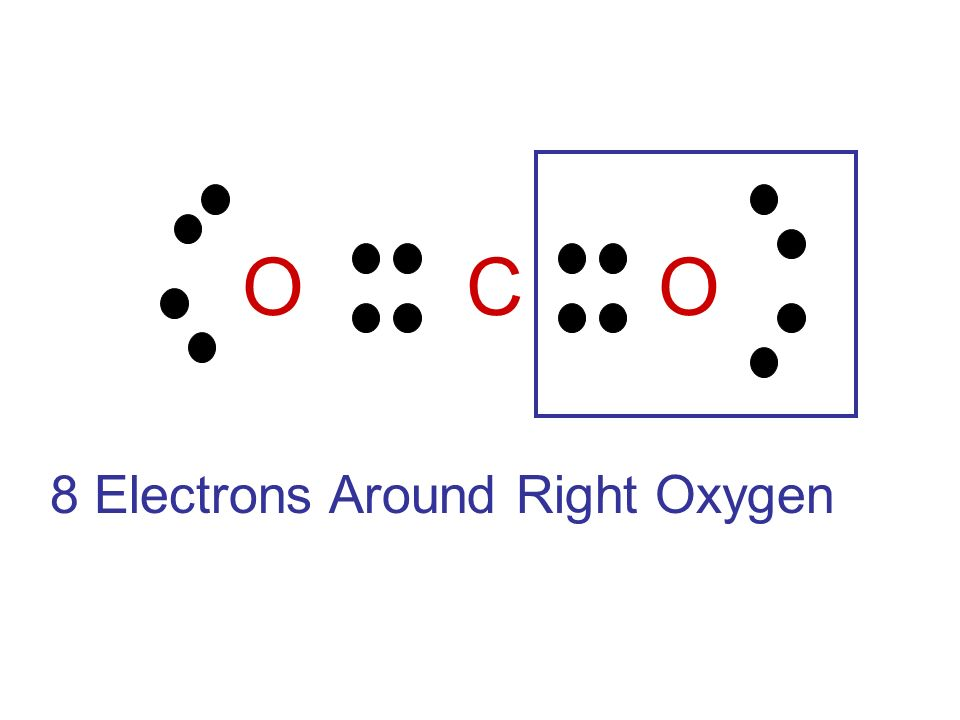 O C O 8 Electrons Around Right Oxygen