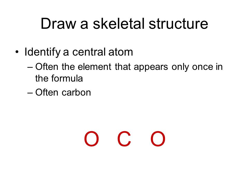 Draw a skeletal structure