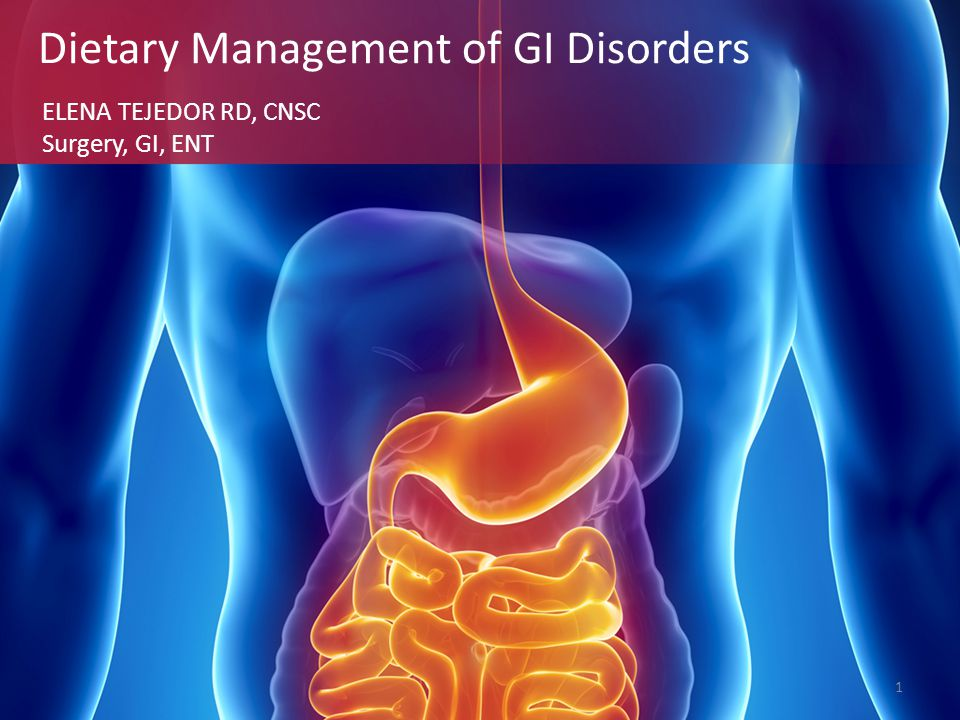 Dietary Management of GI Disorders