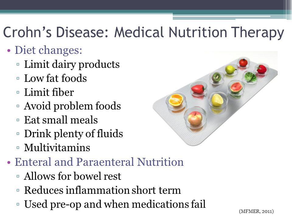 Crohn's Disease: Medical Nutrition Therapy