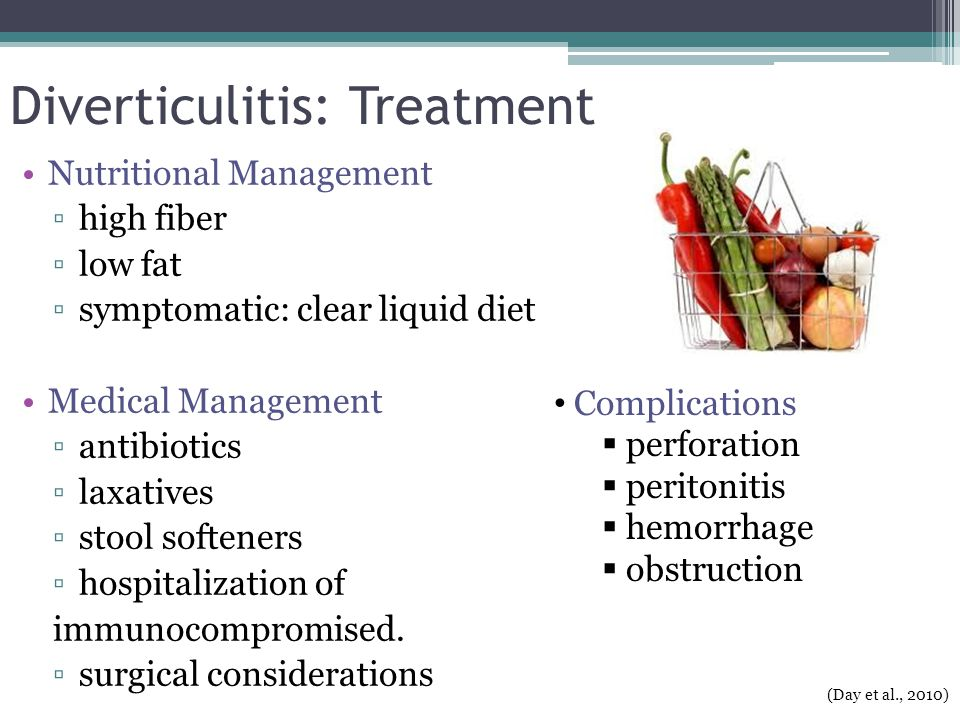 Diverticulitis: Treatment