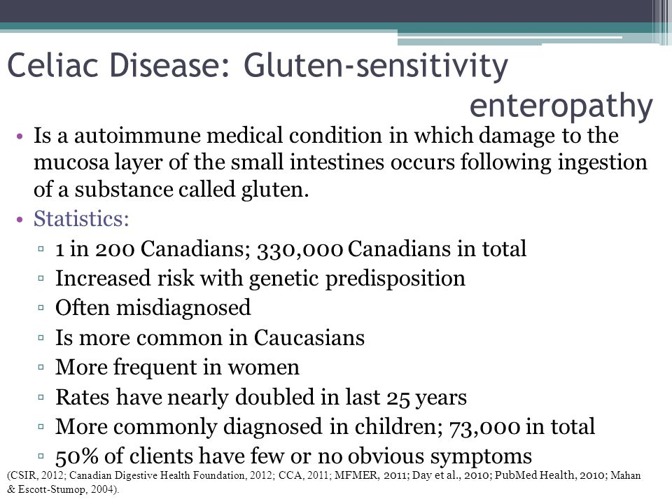 Celiac Disease: Gluten-sensitivity enteropathy