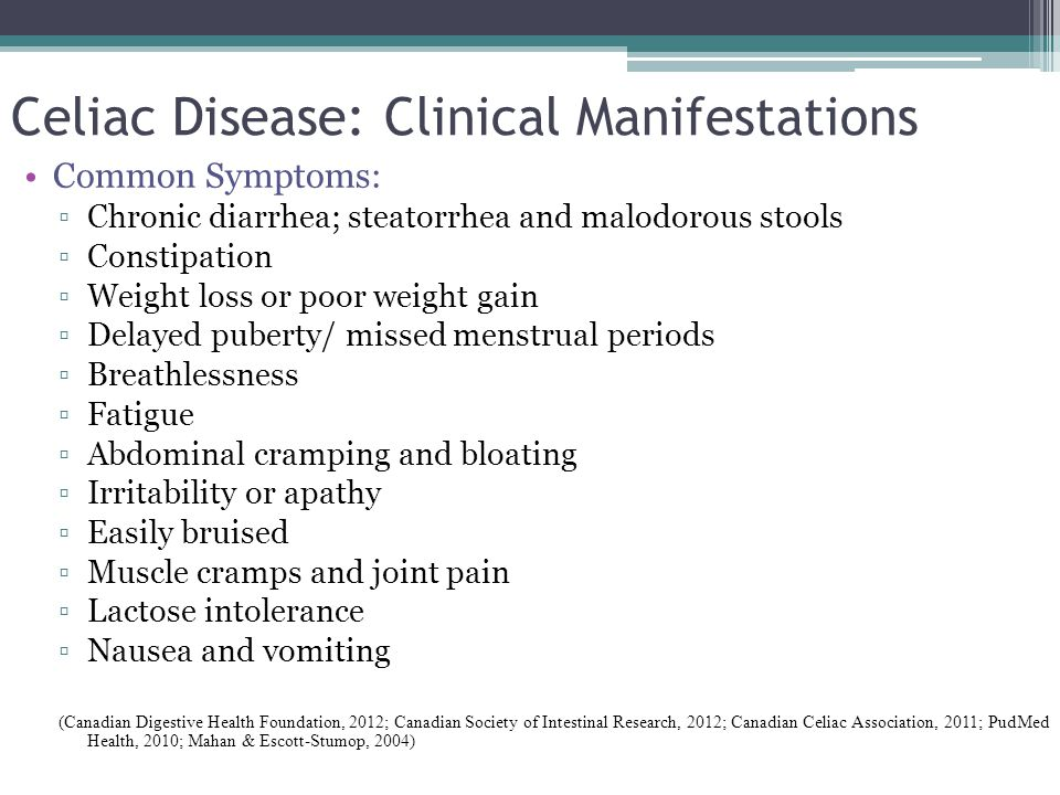 Celiac Disease: Clinical Manifestations