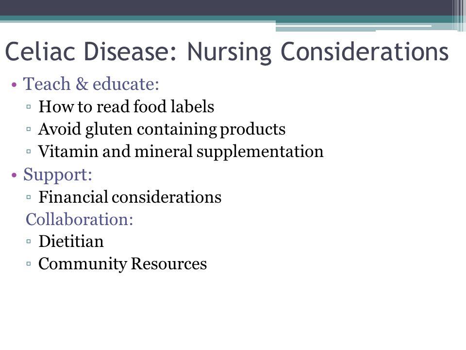 Celiac Disease: Nursing Considerations