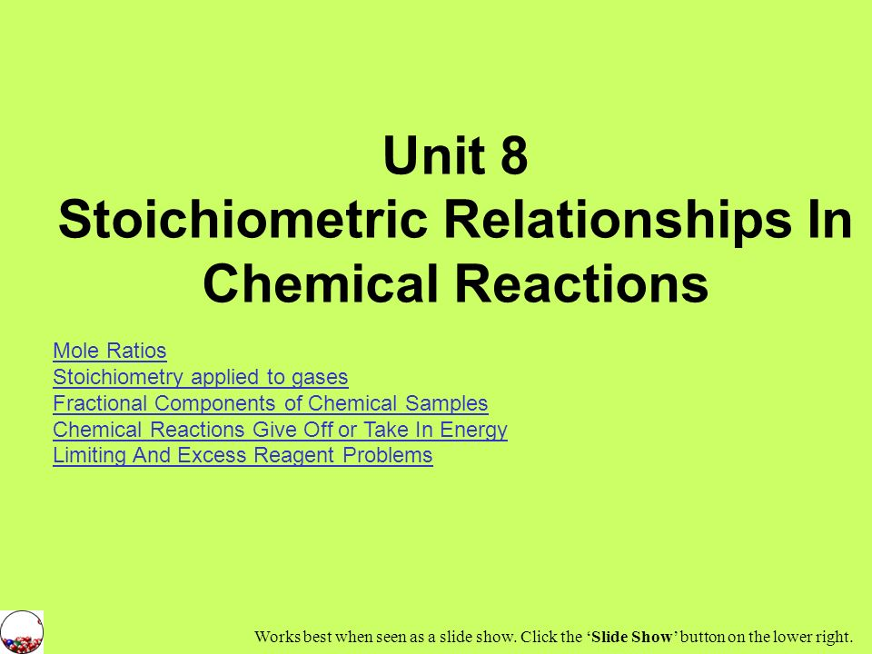 Stoichiometric Relationships In Chemical Reactions