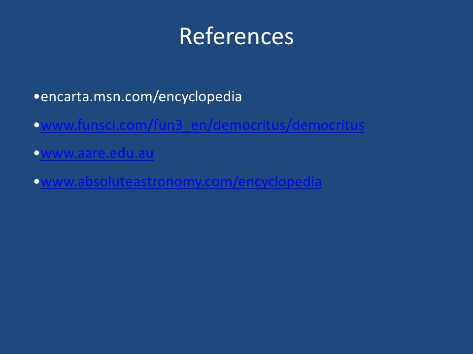 References encarta.msn.com/encyclopedia