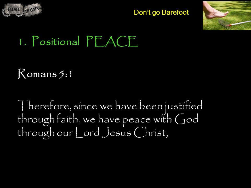 Positional PEACE Romans 5:1
