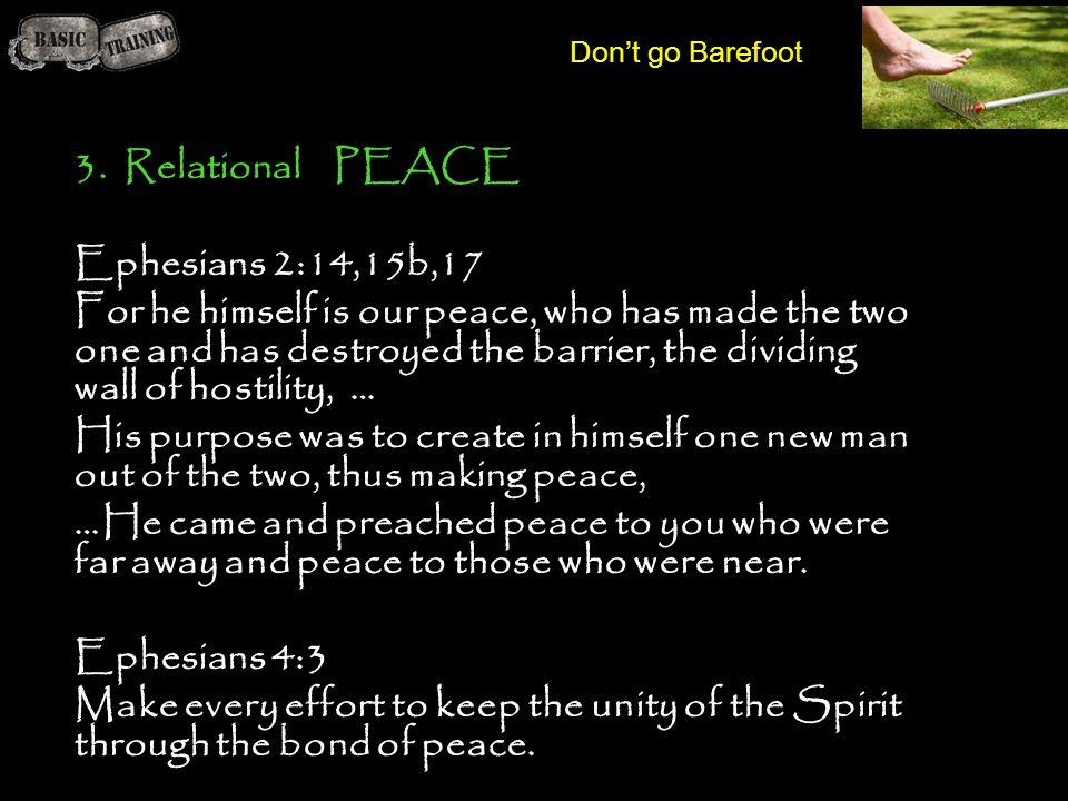 3. Relational PEACE Ephesians 2:14,15b,17