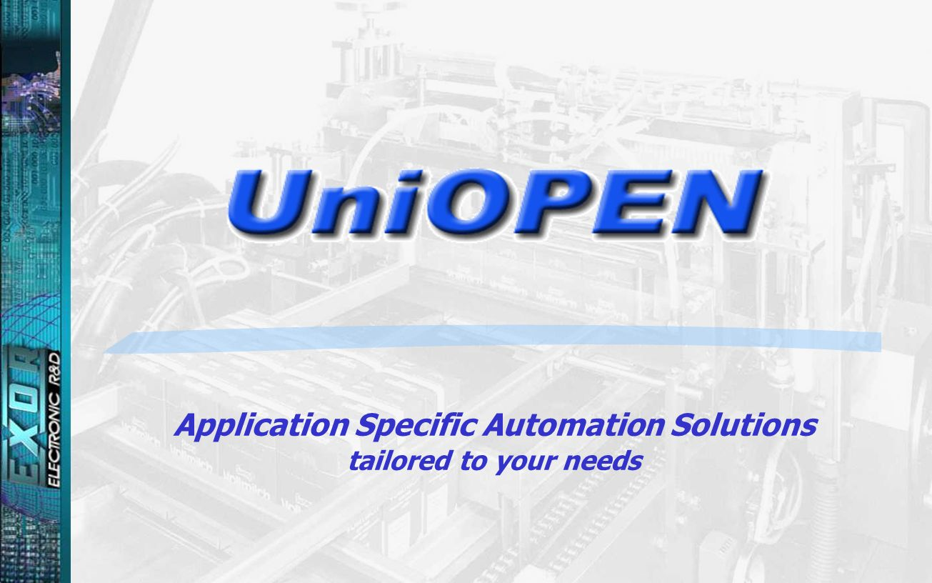 Application Specific Automation Solutions tailored to your needs