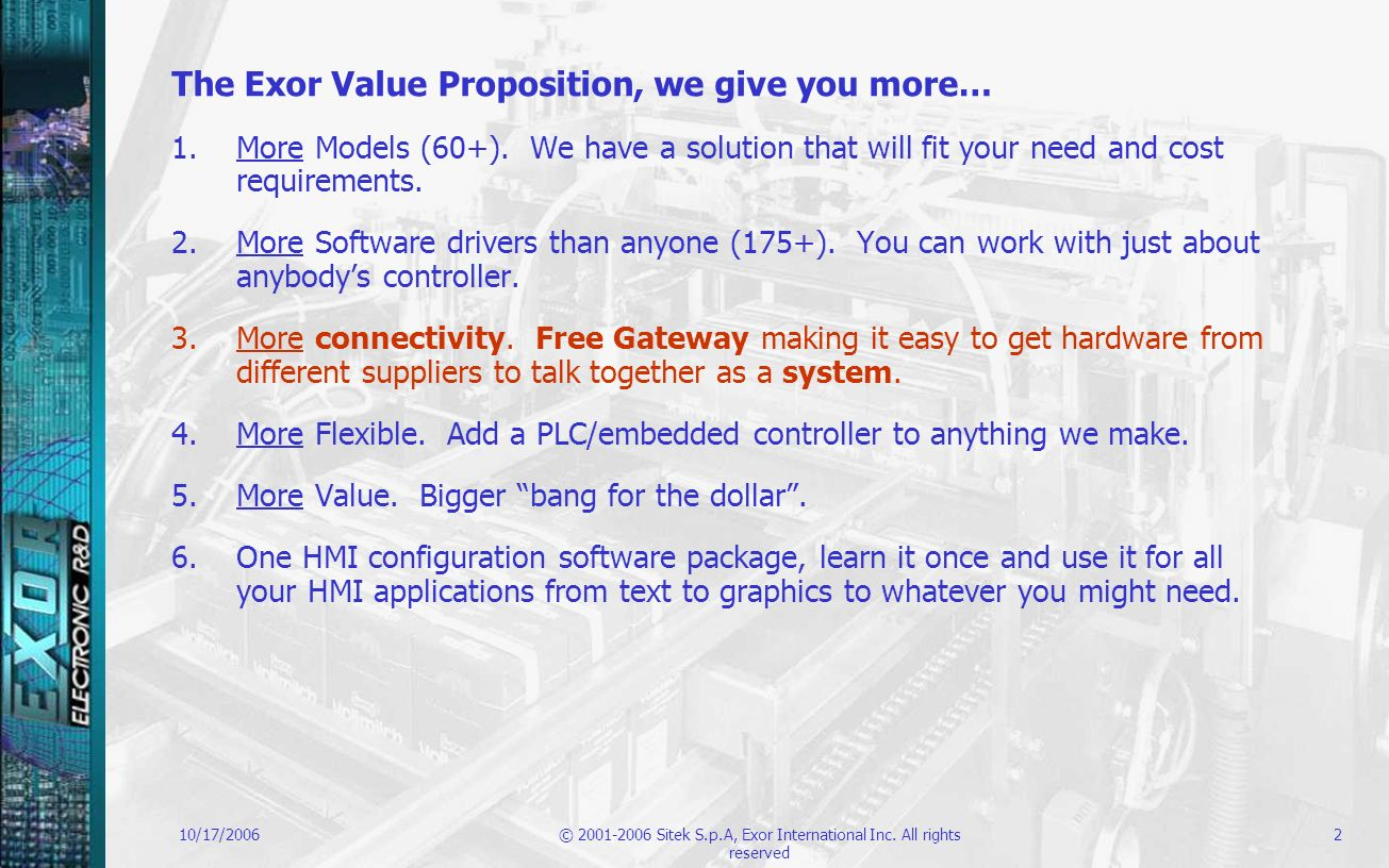 The Exor Value Proposition, we give you more…