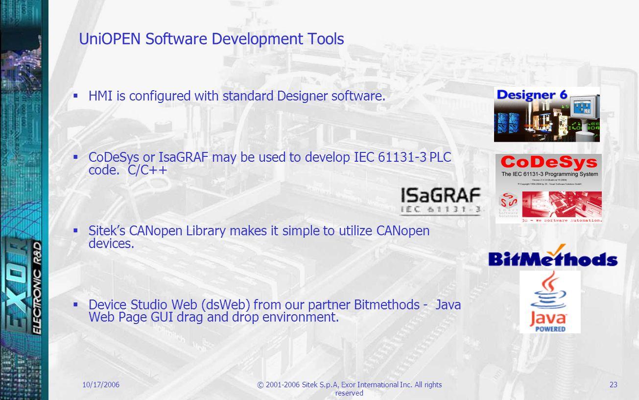 UniOPEN Software Development Tools
