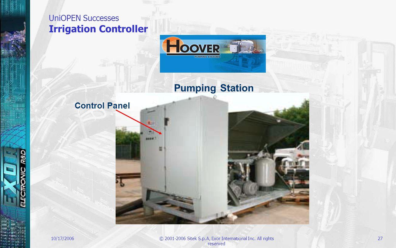 UniOPEN Successes Irrigation Controller