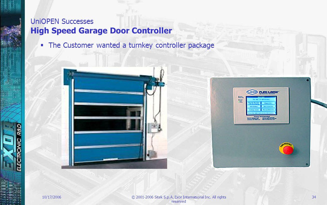 UniOPEN Successes High Speed Garage Door Controller
