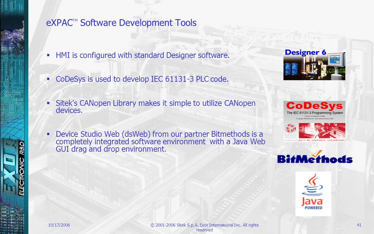 eXPACTM Software Development Tools