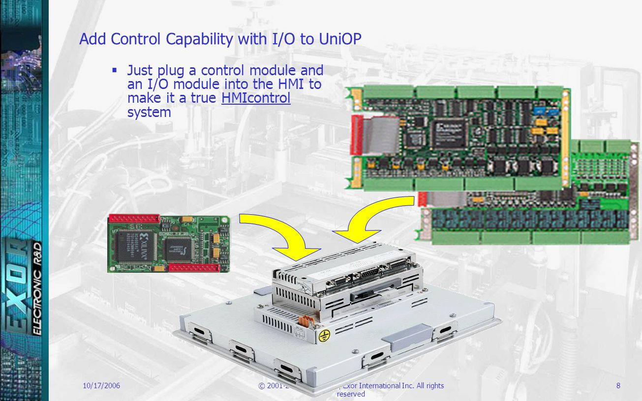Add Control Capability with I/O to UniOP