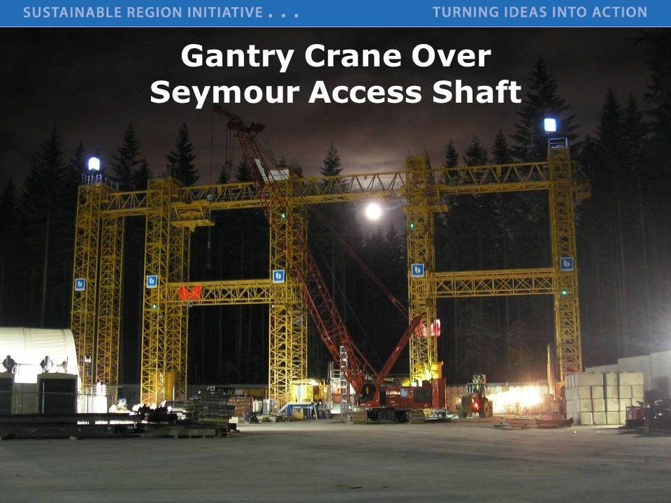 Gantry Crane Over Seymour Access Shaft