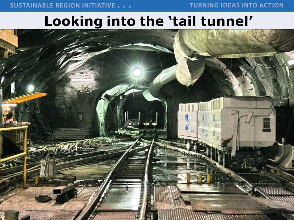 Looking into the 'tail tunnel'