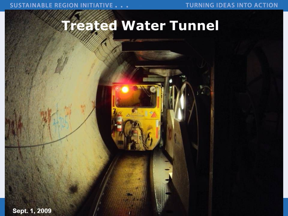 Treated Water Tunnel Sept. 1, 2009