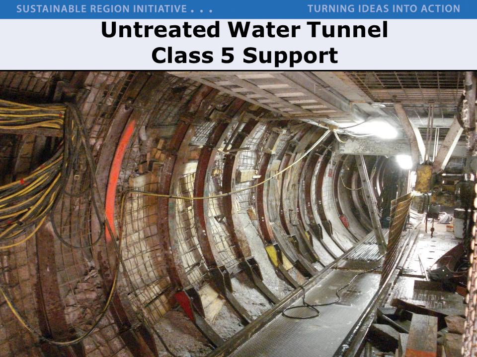 Untreated Water Tunnel Class 5 Support
