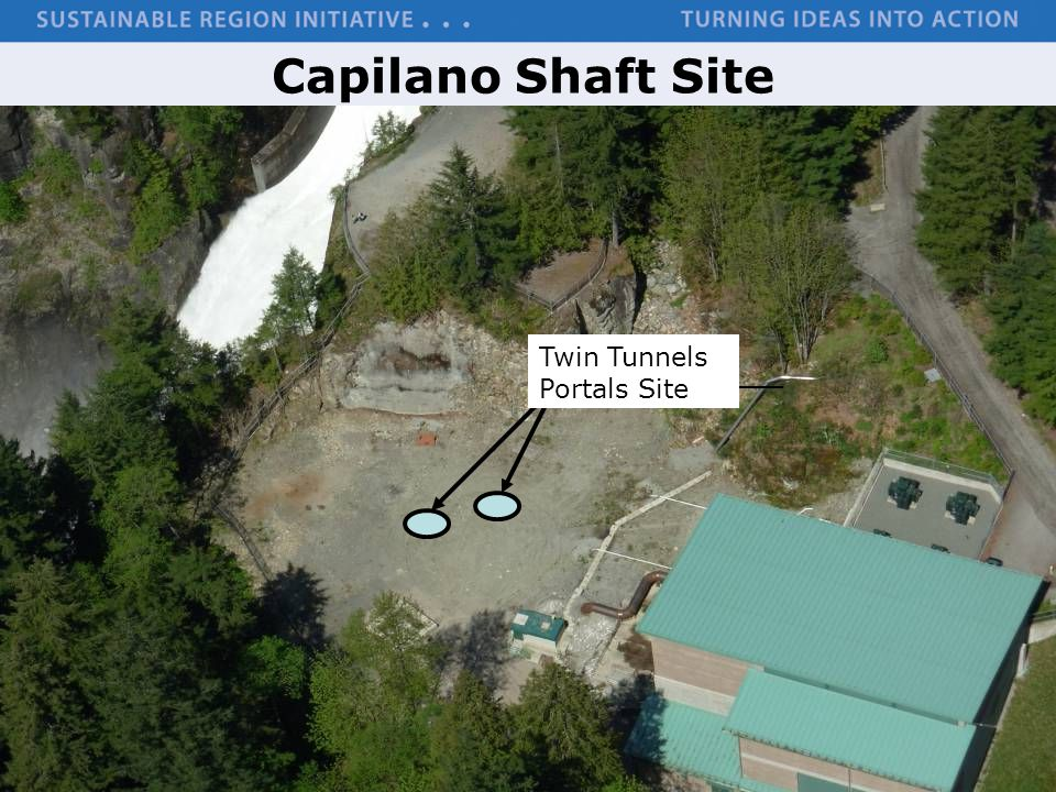 Capilano Shaft Site Twin Tunnels Portals Site