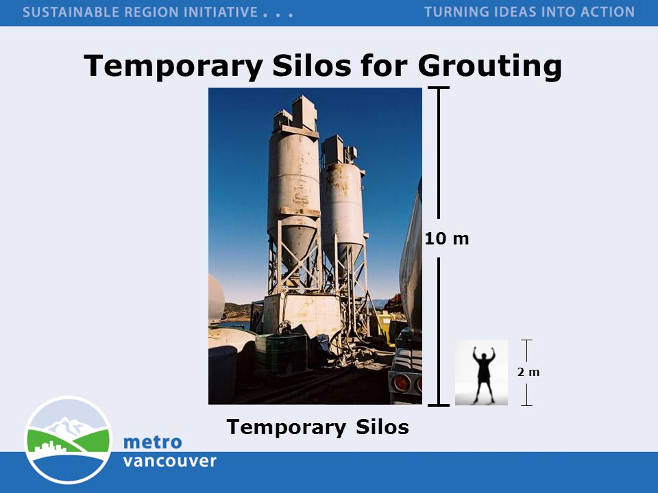 Temporary Silos for Grouting