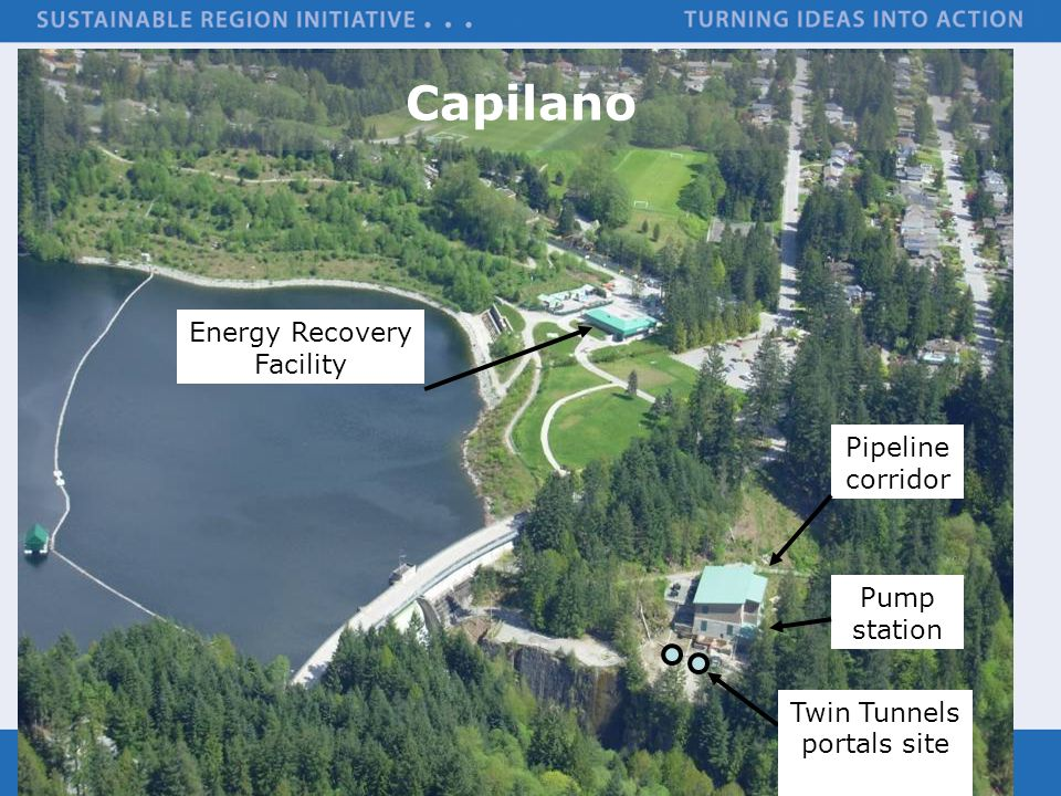 Capilano Energy Recovery Facility Pipeline corridor Pump station