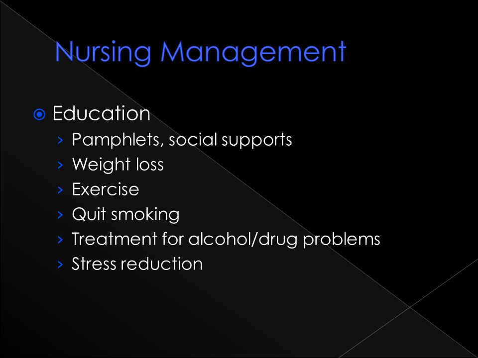 Nursing Management Education Pamphlets, social supports Weight loss