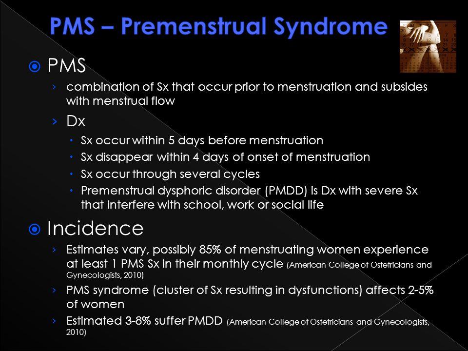 PMS – Premenstrual Syndrome