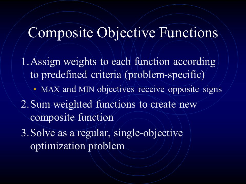 Composite Objective Functions