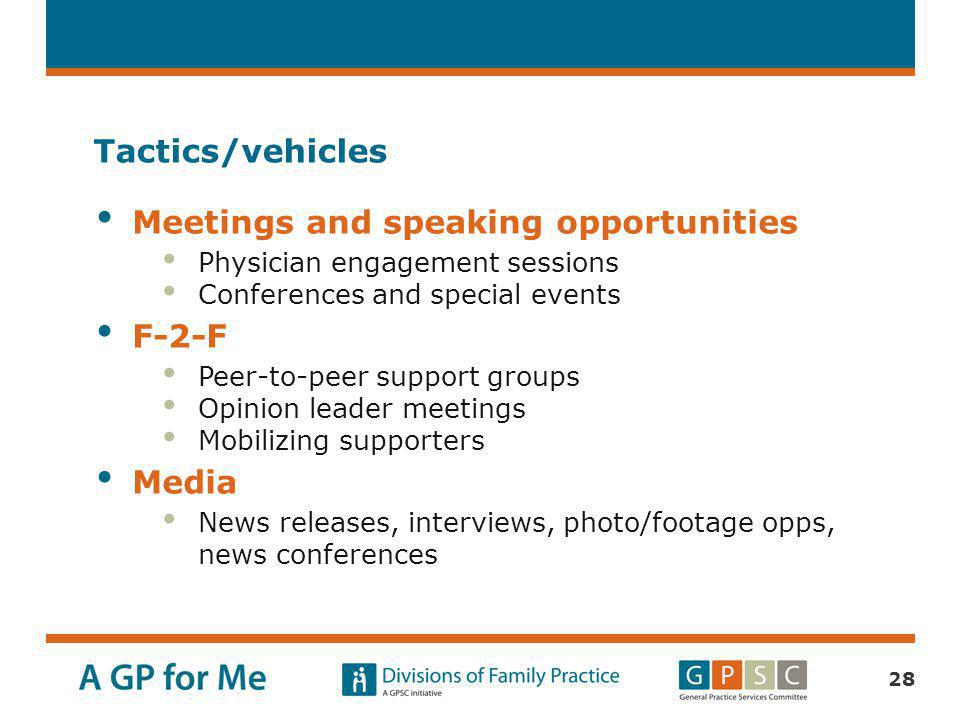 Meetings and speaking opportunities