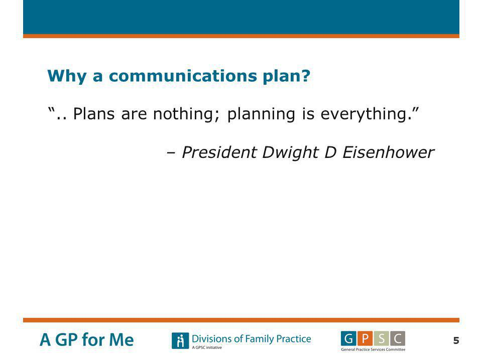 Why a communications plan