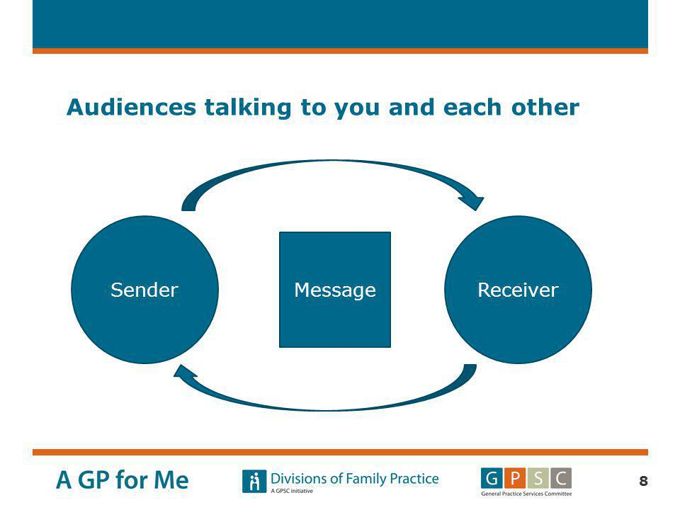 Audiences talking to you and each other