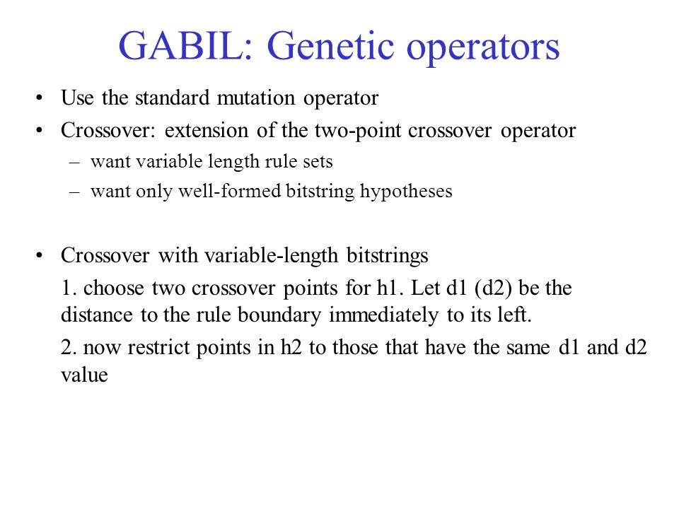 GABIL: Genetic operators